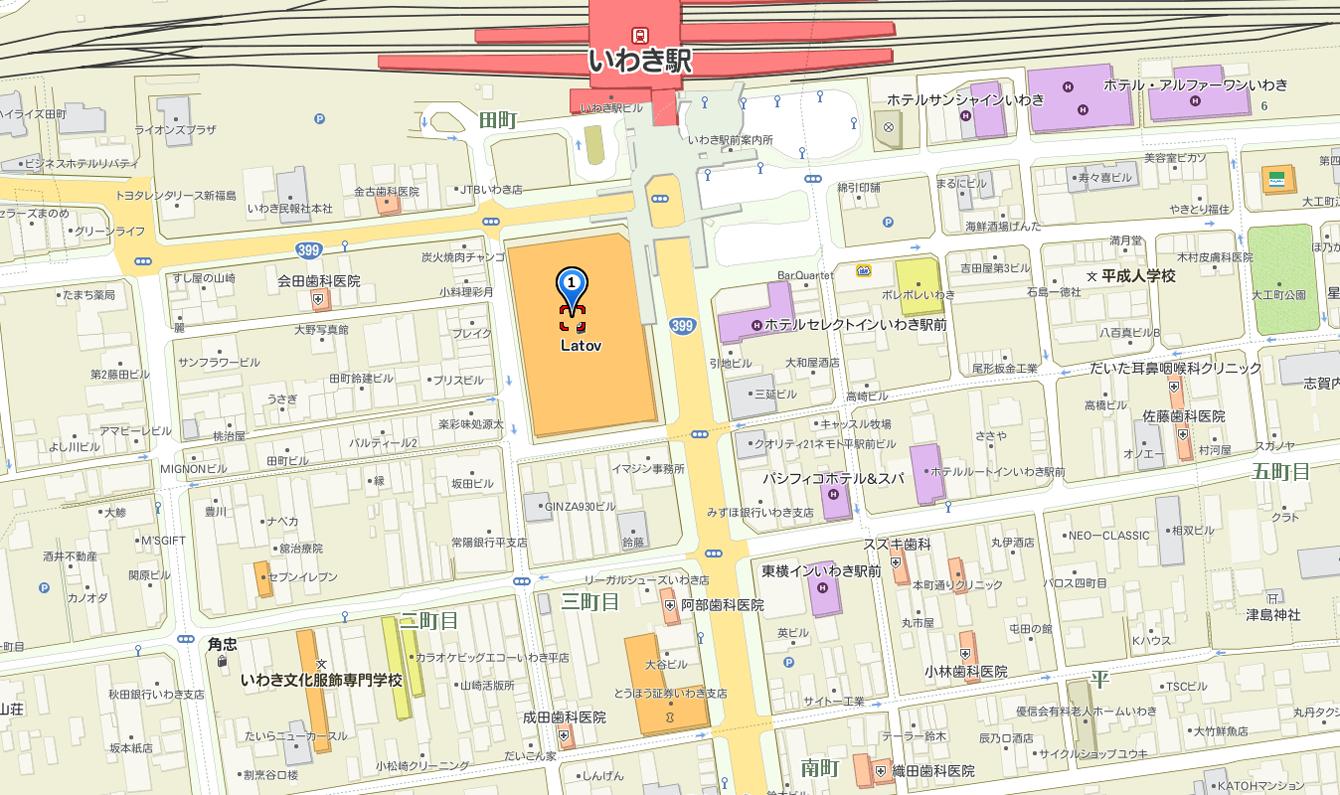 大平眼鏡店LATOV3階地図